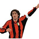 Paolo Maldini - AC Milan Captain by SerieAFFC