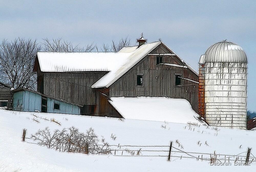 Franklin Barn by Deborah  Benoit