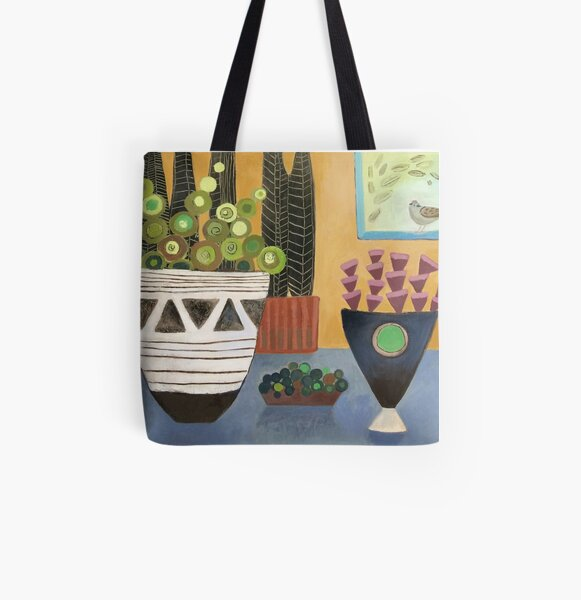 Visiting Sparrow All Over Print Tote Bag