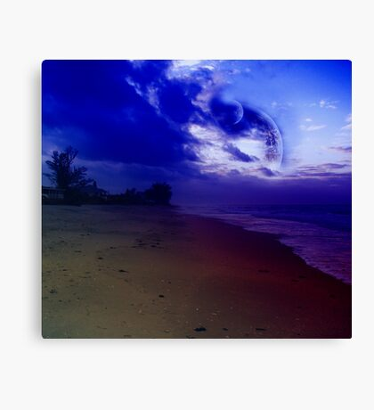 Blue Moons Beach Canvas Print