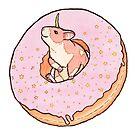 Sweet Fantasy Unicorn Hamster by MarinaPrints