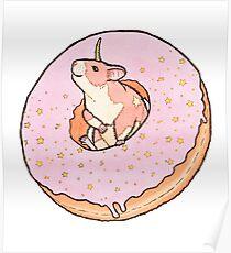 Sweet Fantasy Unicorn Hamster Poster