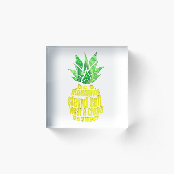Be A Pineapple Acrylic Block