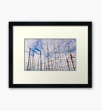 Man between masts .2 Framed Print