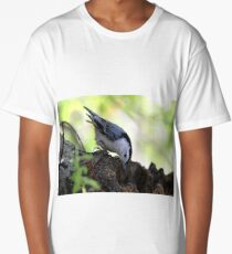 White-breasted nuthatch Long T-Shirt