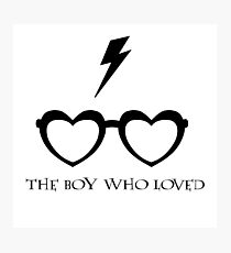 The Boy Who Loved (Black) Photographic Print