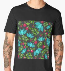 Forest seamless pattern on dark background Men's Premium T-Shirt