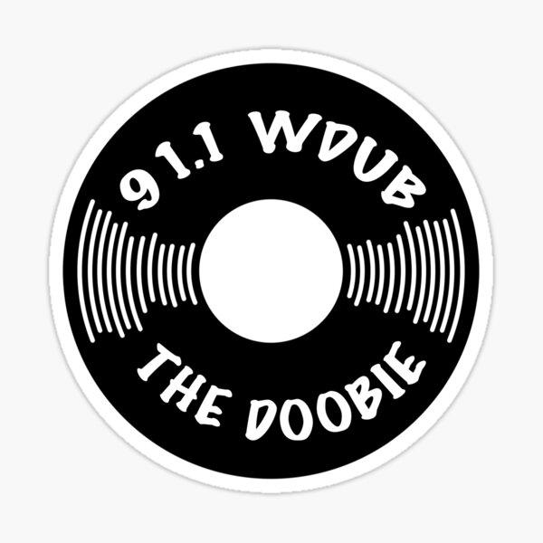 91.1 WDUB the Doobie Record Design Sticker