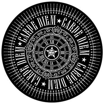 CARPE DIEM life motto as a sticker by annaOMline