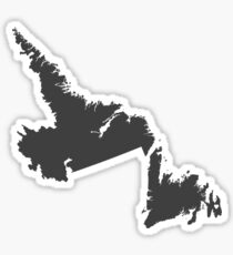 Newfoundland and Labrador Love in Charcoal Sticker