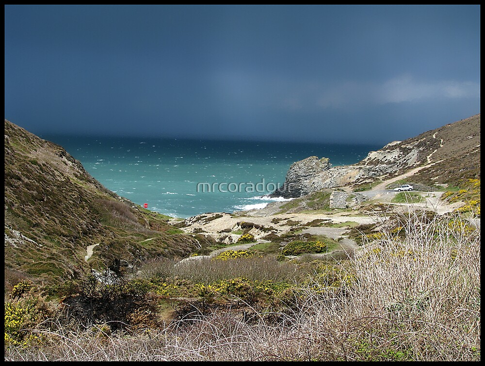 """"""" Approching Storm over St Agnes"""" by Malcolm Chant"""