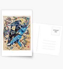 Jitsu-Blue - Original Painting BJJ Art By Kim Dean Postcards