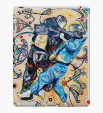Jitsu-Blue - Original Painting BJJ Art By Kim Dean iPad Case/Skin