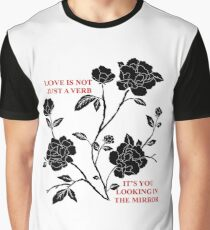 Love is not just a verb Graphic T-Shirt