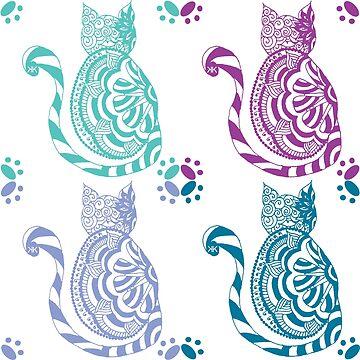 Zentangle Kitty by KristinOmdahl