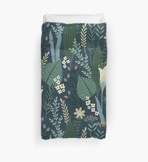 Wunderschöne Mid-Century Style Abendlilie und Wildflower-Muster Bettbezug