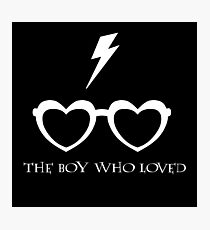 The Boy Who Loved (White) Photographic Print
