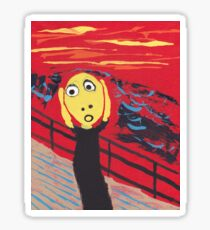 Le Cri - The Scream Sticker