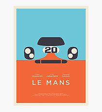 Le Mans Movie Gulf - Layout B Border Photographic Print