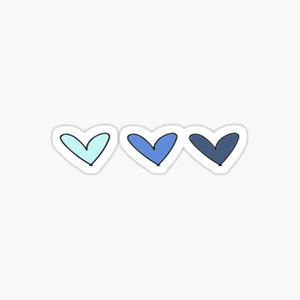 Blue Hearts Sticker