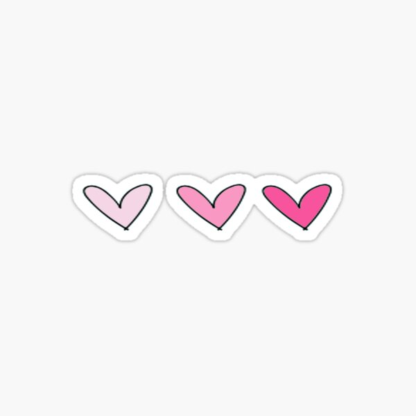 Rosa Herzen Sticker