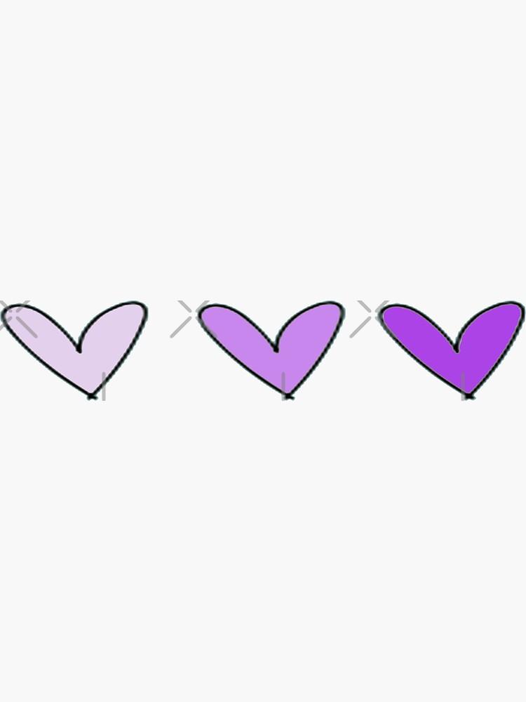 Purple Hearts by haleyerin