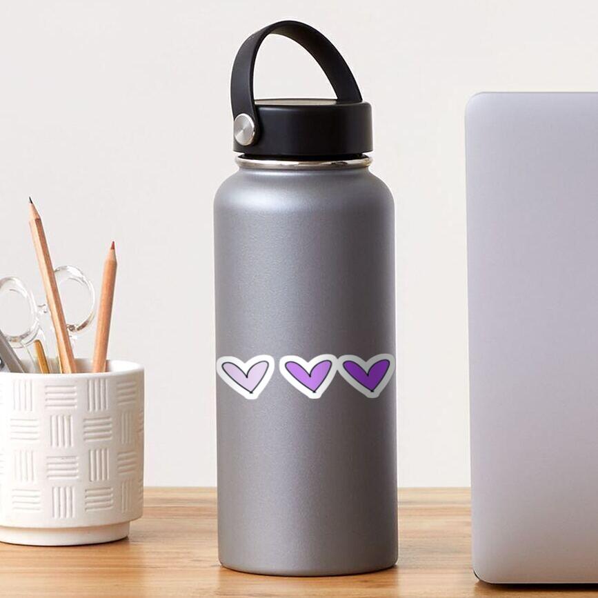 Purple Hearts Sticker