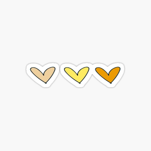 Yellow Hearts Sticker