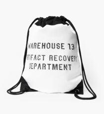 Warehouse Artifact Recovery Department Drawstring Bag