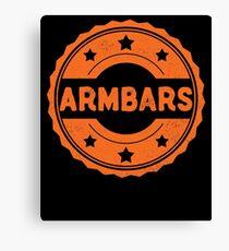 Armbars BJJ Brazilian Jiu-Jitsu MMA Grappling Canvas Print