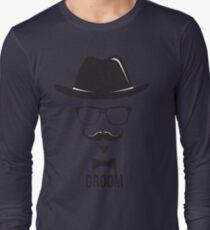 Mens Groom Tee Shirt Long Sleeve T-Shirt