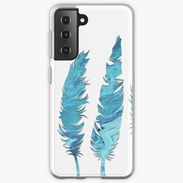 Birds of a Feather: Teal Geode Samsung Galaxy Soft Case