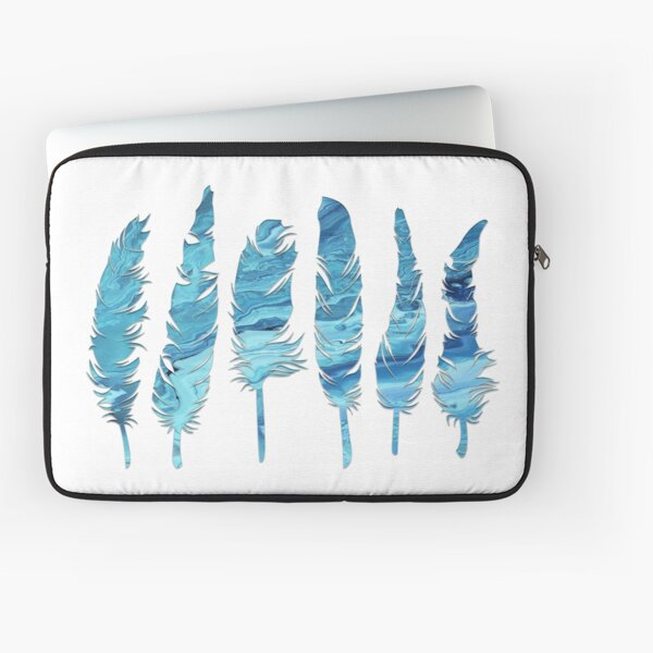 Birds of a Feather: Teal Geode Laptop Sleeve