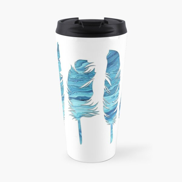 Birds of a Feather: Teal Geode Travel Mug