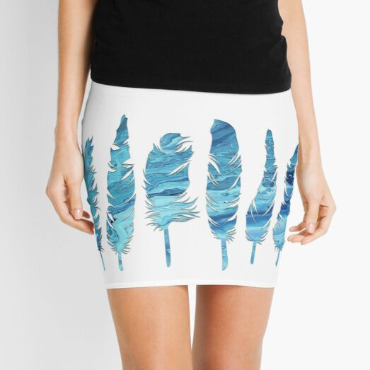 Birds of a Feather: Teal Geode Mini Skirt