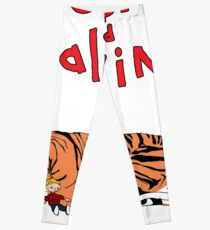 Hobbes and Calvin logo Leggings