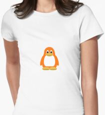 Orange Penguin Women's Fitted T-Shirt