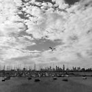 City view Black and White by creativecamart