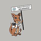 March for Science Melbourne – Kangaroo, full color by sciencemarchau