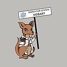 March for Science Hobart – Kangaroo, full color by sciencemarchau