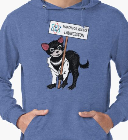 March for Science Launceston – Tassie Devil, full color Lightweight Hoodie