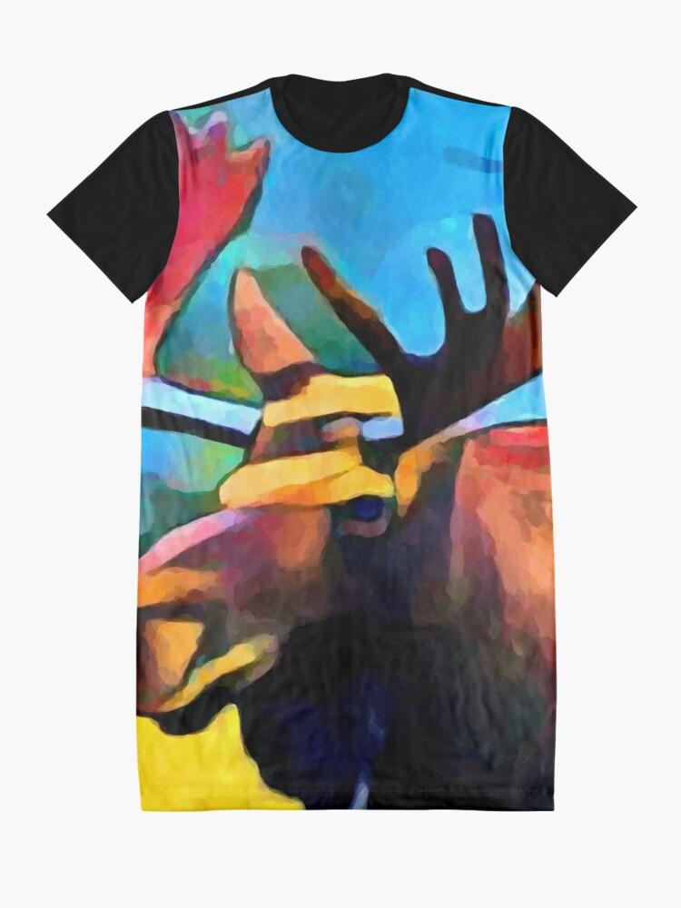Alternate view of Moose Graphic T-Shirt Dress