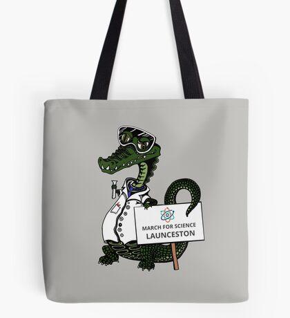 March for Science Launceston– Crocodile, full color Tote Bag