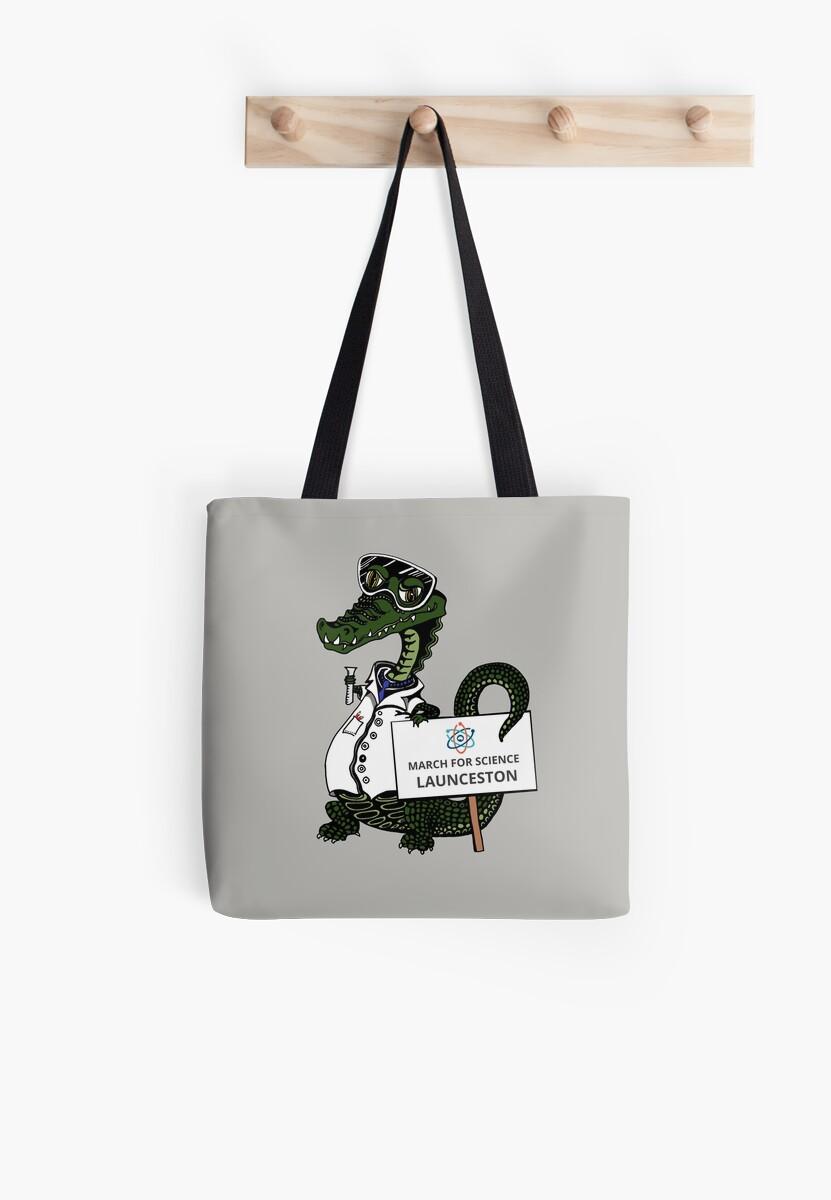 March for Science Launceston– Crocodile, full color by sciencemarchau