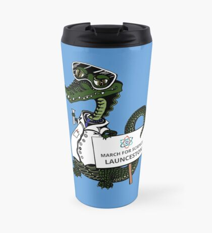 March for Science Launceston– Crocodile, full color Travel Mug