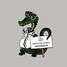 March for Science Australia – Crocodile, full color by sciencemarchau