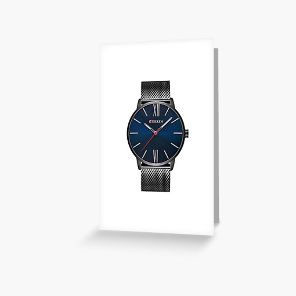 Minimalo Pacific, curren, luxury, brand, quartz, watch, men's, gold, casual, business, stainless, steel, mesh, ssw, stainless steel, gold Greeting Card
