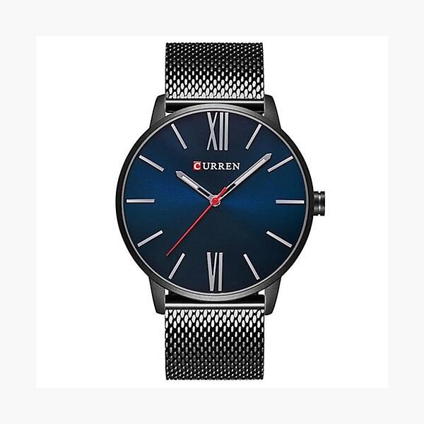 Minimalo Pacific, curren, luxury, brand, quartz, watch, men's, gold, casual, business, stainless, steel, mesh, ssw, stainless steel, gold Photographic Print