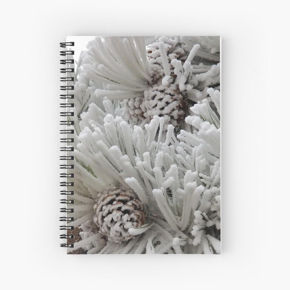 Frosted Pine Cones Winter Wonderland Spiral Notebook