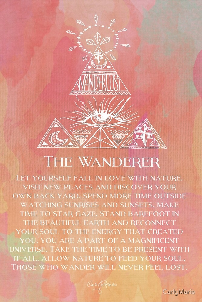 Quot The Wanderer Quot By Carlymarie Redbubble